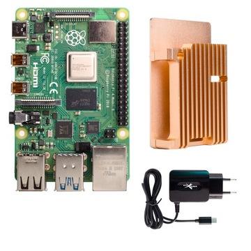 Zestaw Raspberry Pi 4 4GB duże pasywne chłodzenie доставка товаров из Польши и Allegro на русском