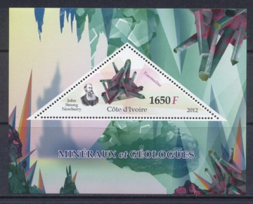 Минералы и геологи Кот-д'Ивуар блок ** #WKS1208 доставка товаров из Польши и Allegro на русском