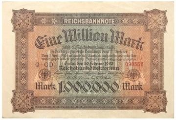 Германия - КУПЮРА - 1 Миллион Марок 1923 - Ro: 85 доставка товаров из Польши и Allegro на русском