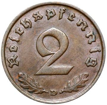 + III Рейх - 2 Reichspfennig 1936 D - двойной D доставка товаров из Польши и Allegro на русском