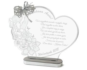 Подарок на день святого Валентина Статуэтка + ВАШЕ ФОТО доставка товаров из Польши и Allegro на русском