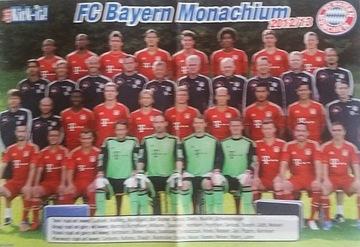 (Плакат футбол - БАВАРИЯ МЮНХЕН + 17 доставка) доставка товаров из Польши и Allegro на русском