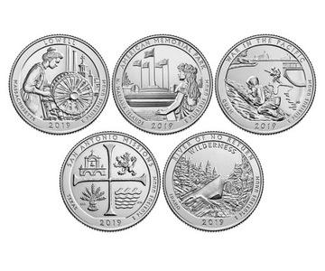Парки США - набор монет с 2019 года доставка товаров из Польши и Allegro на русском