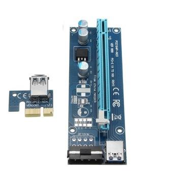 RISER PCI-E 1x16x USB 3.0 MOLEX 4-PIN доставка товаров из Польши и Allegro на русском