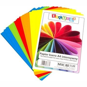 Бумага Ксерокс А4 80г Escuela 100 Mix Интенсивный доставка товаров из Польши и Allegro на русском