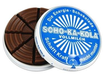 ЩО-КА-КОЛЕСА молочный шоколад с КОФЕИНОМ рацион доставка товаров из Польши и Allegro на русском