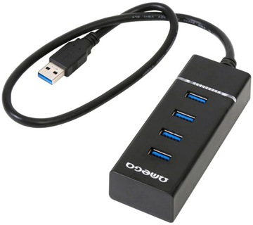 Hub 4-порта USB3.0 ОМЕГА распределитель 5 гб/с ВЫСОКОСКОРОСТНОЙ доставка товаров из Польши и Allegro на русском