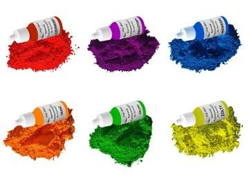 Набор Красителей Флуоресцентных для смолы 6шт доставка товаров из Польши и Allegro на русском