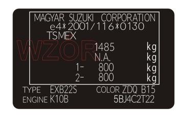 Табличка / наклейка стартера Suzuki доставка товаров из Польши и Allegro на русском