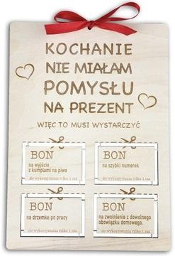 Prezent na urodziny dla chłopaka, męża, bon, kupon доставка товаров из Польши и Allegro на русском
