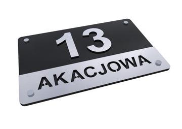 Табличка адресная АЛЮМИНИЙ 3D Номер дома T1 доставка товаров из Польши и Allegro на русском