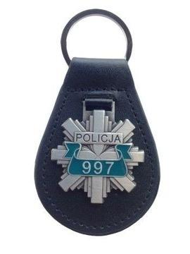 БРЕЛОК ПОЛИЦИЯ 997 НАТУРАЛЬНАЯ КОЖА 95mmx50mm доставка товаров из Польши и Allegro на русском