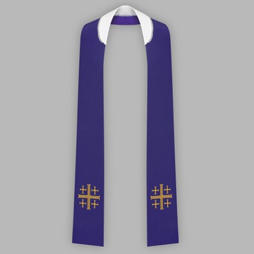 Епитрахиль haftowana - узкая - цвет фиолетовый доставка товаров из Польши и Allegro на русском