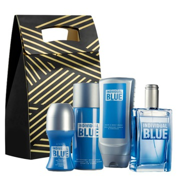 INDIVIDUAL BLUE НАБОР из 4-х AVON +СУМОЧКА доставка товаров из Польши и Allegro на русском