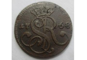 КОПЕЙКА 1768 СТАНИСЛАВ А. ПОНЯТОВСКИЙ СОСТОЯНИЕ III доставка товаров из Польши и Allegro на русском