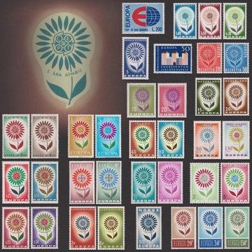 EUROPA CEPT Цветок Европейский Костюм 19 Серии ** 1964 доставка товаров из Польши и Allegro на русском