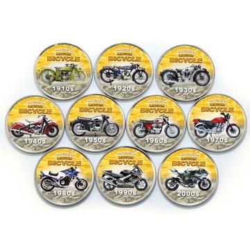 SOMALILAND набор из 10 монет мотоциклы цвет доставка товаров из Польши и Allegro на русском