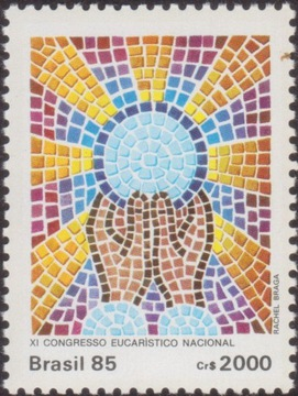 Brazylia 1985 Znaczek 2131 ** Kongres Eucharystycz доставка товаров из Польши и Allegro на русском