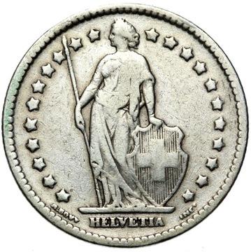 + Швейцария - 1 Франк 1912 B - Серебро доставка товаров из Польши и Allegro на русском