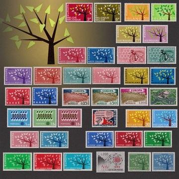 EUROPA CEPT Дерево Европы Комплект 18 Серии ** 1962 доставка товаров из Польши и Allegro на русском