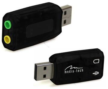 MEDIA-TECH звуковая Карта 5.1 музыкальная USB ДЖЕК доставка товаров из Польши и Allegro на русском