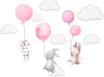 Наклейки на стену Кролики воздушные шары для детей 100 доставка товаров из Польши и Allegro на русском