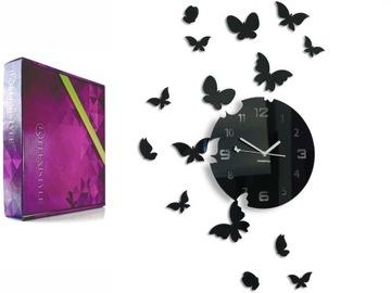Современный большой тихий настенные часы БАБОЧКИ цвета доставка товаров из Польши и Allegro на русском
