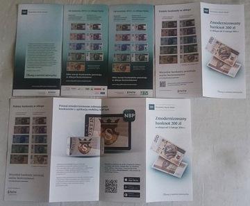 Папки НБП - для банкнот - КОМПЛЕКТ - 5 версии доставка товаров из Польши и Allegro на русском