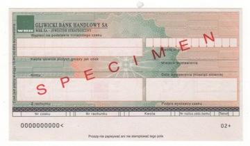 чек печатается Гливицкий Банк Коммерческий GB1 доставка товаров из Польши и Allegro на русском