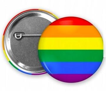 (Застежка/button флаг LGBT PRIDE 32 мм) доставка товаров из Польши и Allegro на русском