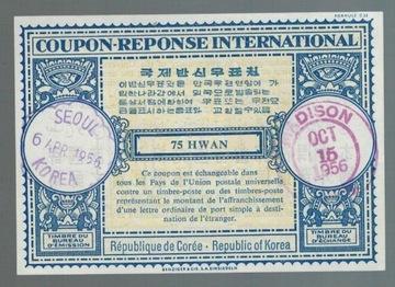 Корея 1956 IRC Международный купон ответа доставка товаров из Польши и Allegro на русском