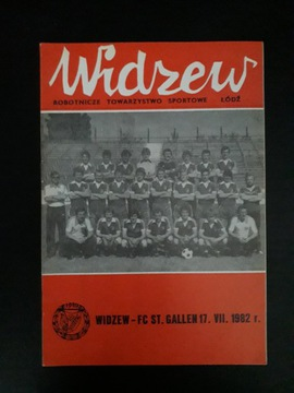 RTS WIDZEW ŁÓDŹ - FC ST. GALLEN 1982r доставка товаров из Польши и Allegro на русском