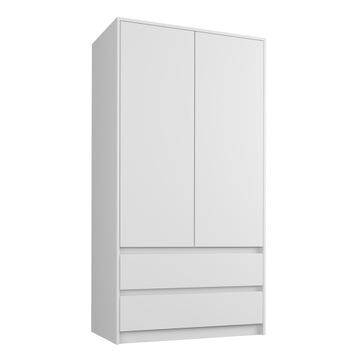Шкаф гардероб 90см 2d 2sz белый B-9 доставка товаров из Польши и Allegro на русском