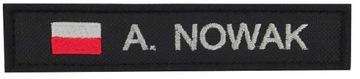 Полоса Тезка Полицейский Полиция Флаг Черный доставка товаров из Польши и Allegro на русском