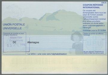 Германия 2003 IRC Международный купон ответа доставка товаров из Польши и Allegro на русском