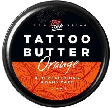 Масло Крем для татуировки LOVEINK Tattoo Butter Orange доставка товаров из Польши и Allegro на русском