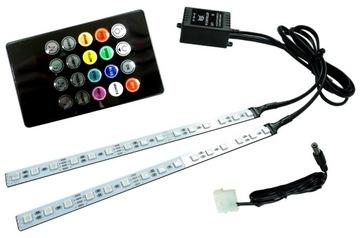 Алюминиевые планки PC 2x15 LED RGB music RAINBOW-X доставка товаров из Польши и Allegro на русском