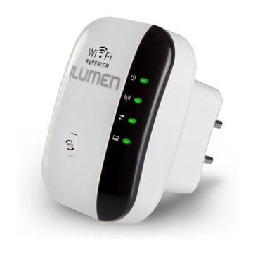 Повторитель Усилитель сигнала Wi-Fi 300 мбит Ilumen доставка товаров из Польши и Allegro на русском