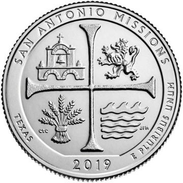 25 ц Парки США San Antonio Missions 2019 П № 49 доставка товаров из Польши и Allegro на русском