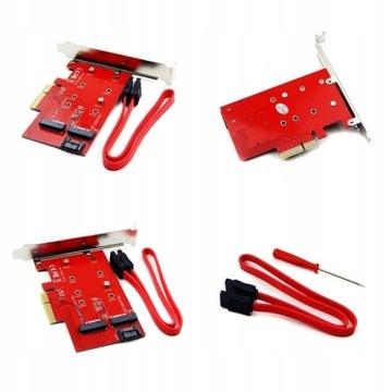 АДАПТЕР M. 2 МАТЕРИНСКАЯ Key M + B для PCI-E Express x4 SSD доставка товаров из Польши и Allegro на русском