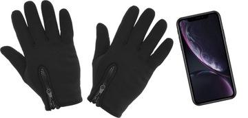 (Черные Перчатки сенсорные для телефона размер L) доставка товаров из Польши и Allegro на русском