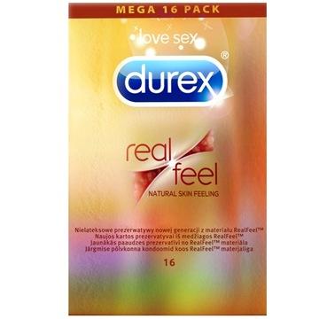 ПРЕЗЕРВАТИВЫ DUREX REAL FEEL - Коробка 16 шт. - доставка товаров из Польши и Allegro на русском