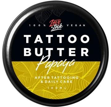 Масло Крем для татуировки LOVEINK Tattoo Butter Papaya доставка товаров из Польши и Allegro на русском
