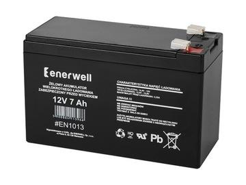 Гелевый аккумулятор Enerwell 12В 7ач доставка товаров из Польши и Allegro на русском