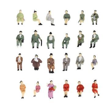 Человечков Фигурки, сидящие на макет H0 1:87 доставка товаров из Польши и Allegro на русском