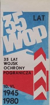 35 Лет Пограничной службы WOP - наклейка доставка товаров из Польши и Allegro на русском