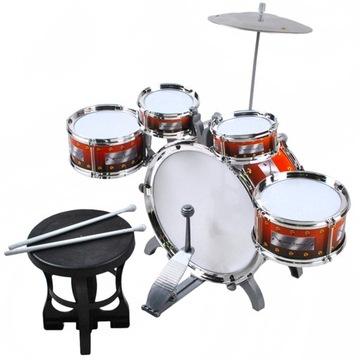 Барабаны для Детей 5 Барабанов + Тарелки + Стул доставка товаров из Польши и Allegro на русском
