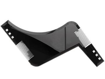 Z96 ШАБЛОН ГРЕБЕНЬ для УКЛАДКИ БОРОДЫ волос на лице доставка товаров из Польши и Allegro на русском