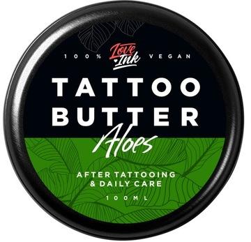Масло Крем для татуировки LOVEINK Tattoo Butter Алоэ доставка товаров из Польши и Allegro на русском