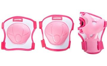 Ochraniacze na rolki Croxer Neve Pink S  Zestaw